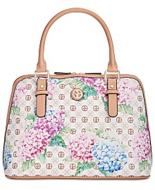 Giani Bernini Hydrangea Print Dome Satchel, Created for Macy's