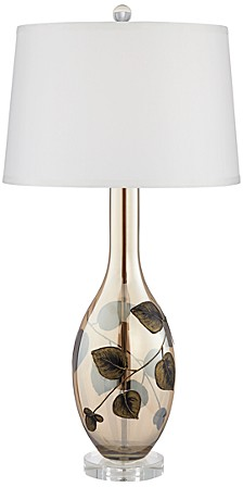 Flower Pattern Glass Table Lamp