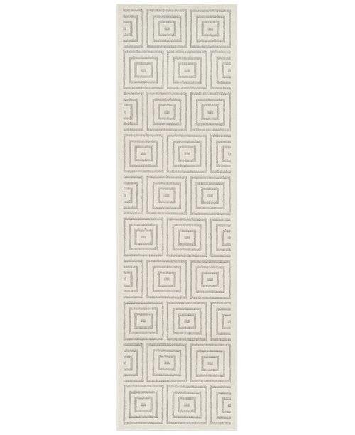 "Safavieh Cottage Grey and Cream 2'3"" x 8' Runner Area Rug"