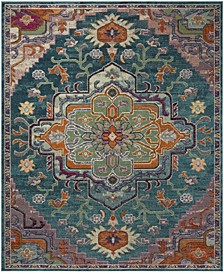 Crystal Teal and Rose 8' x 10' Area Rug