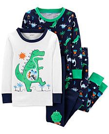 Carter's Baby Boys 4-Pc. Dino-Print Cotton Pajamas Set