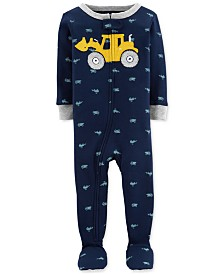 Carter's Baby Boys Footed Construction Pajamas