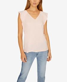 Sanctuary Lily V-Neck Flutter-Sleeve T-Shirt