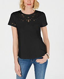 Cutout Cotton T-Shirt, Created for Macy's