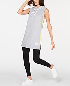 Striped Sleeveless Hoodie Dress