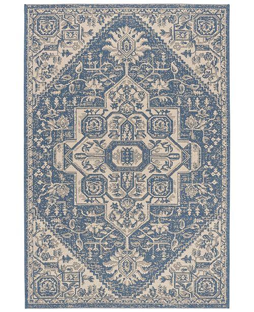 Safavieh Linden Cream and Blue 4' x 6' Area Rug