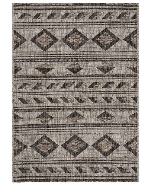 "Safavieh Courtyard Gray and Black 6'7"" x 9'6"" Area Rug"