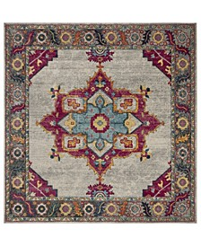 "Merlot Cream and Multi 6'7"" x 6'7"" Square Area Rug"