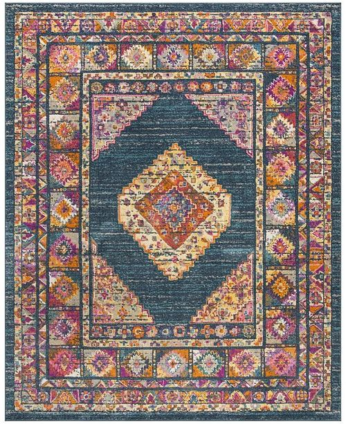 Safavieh Madison Blue and Fuchsia 9' x 12' Area Rug