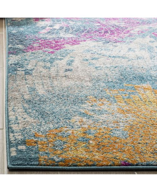 Safavieh Madison Blue and Multi 4' x 6' Area Rug