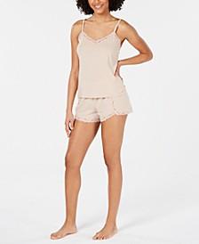 INC Lace-Trim Sparkle Pajama Set, Created for Macy's