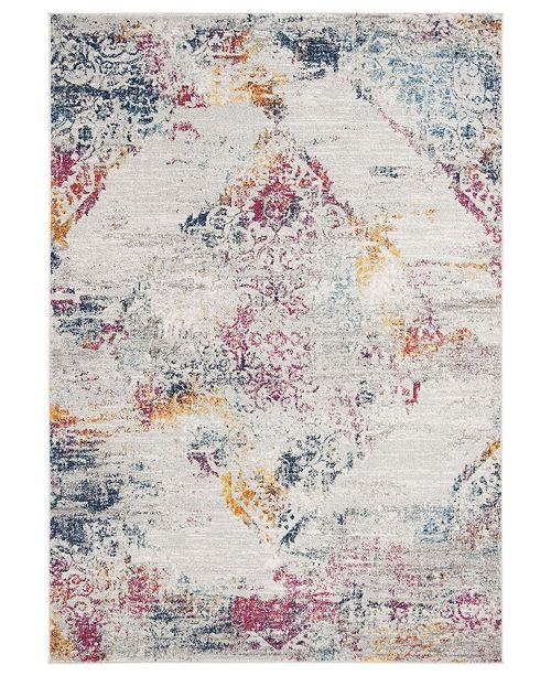 Safavieh Madison Light Gray and Fuchsia 6' x 9' Sisal Weave Area Rug