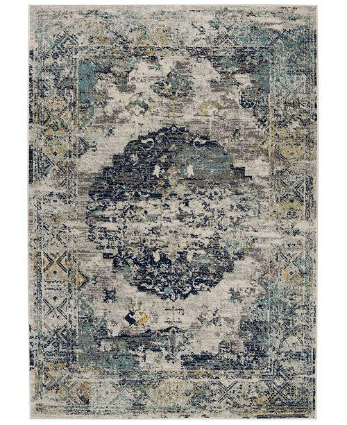 Safavieh Madison Light Gray and Blue 4' x 6' Sisal Weave Area Rug