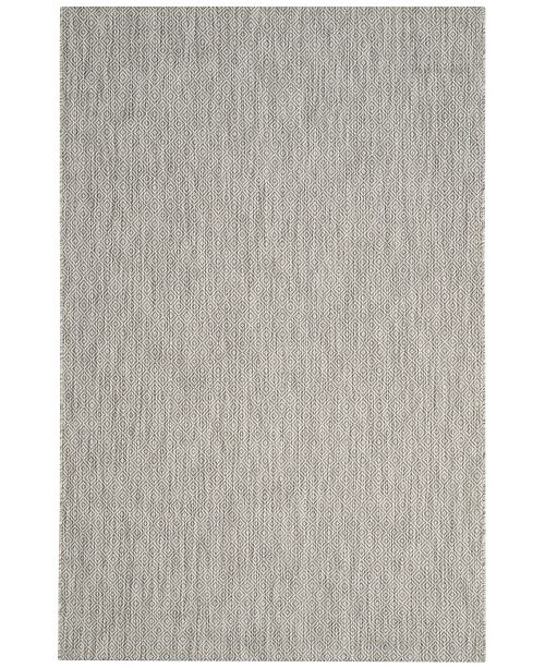 "Safavieh Courtyard Gray 5'3"" x 5'3"" Sisal Weave Square Area Rug"