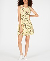 c341fb597e2 Maison Jules Border-Print Fit   Flare Dress