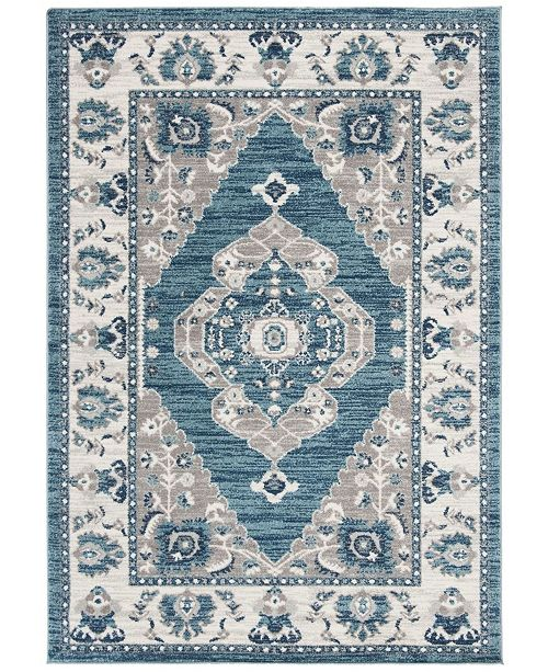 Safavieh Madison Turquoise and Grey 2' x 8' Runner Area Rug