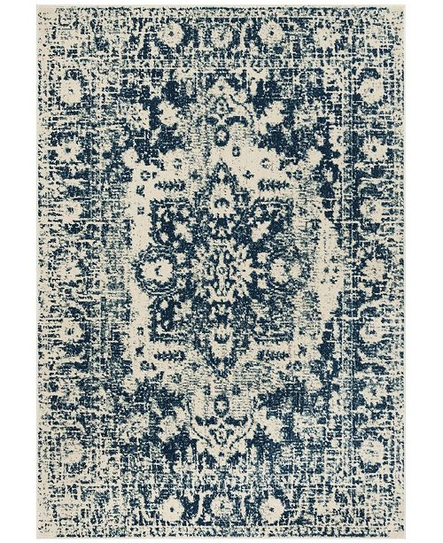 Safavieh Madison Blue and Creme 3' x 5' Area Rug