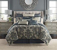 Waterford Everett Teal Reversible California King 4 Piece Comforter Set
