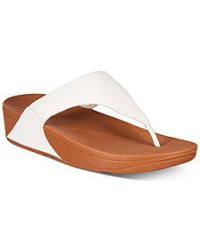FitFlop Women's Lulu Leather Toe-Thongs Sandal
