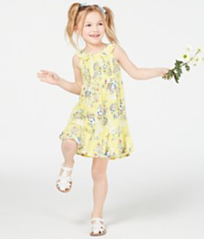Epic Threads Little Girls Floral-Print Smocked Dress, Created for Macy's