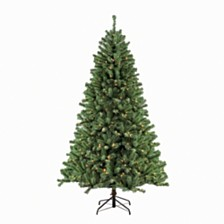 Puleo International 7.5 ft. Pre-Lit Noble Fir Artificial Christmas Tree with 600 Clear UL listed Lights