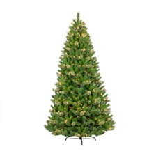 Puleo International 7.5 ft. Pre-Lit Teton Pine Artificial Christmas Tree with 600 Clear UL listed Lights
