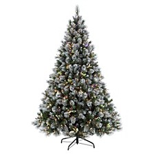 International 7.5 ft Pre-Lit Premium Winter Wonderland Artificial Christmas Tree with 500 UL-Listed Clear Lights