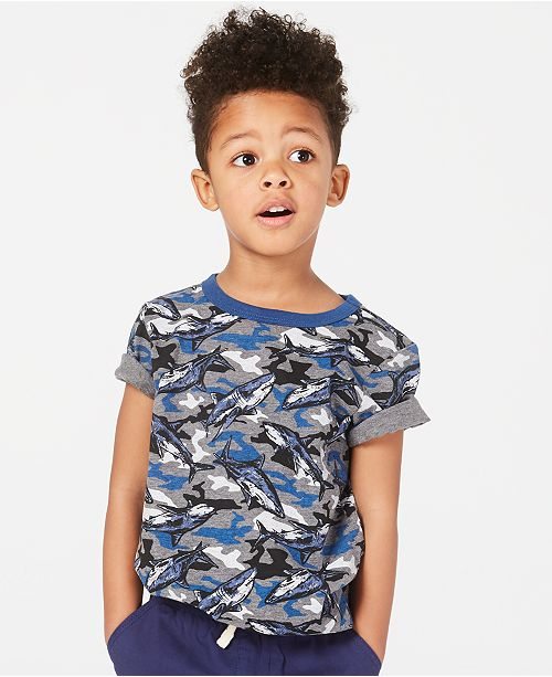 Epic Threads Little Boys Shark-Print T-Shirt, Created for Macy's