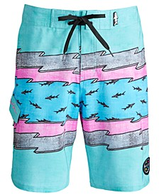 "Men's Voltage Stretch Lightning Stripe 20"" Board Shorts"