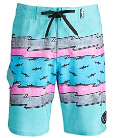 "Maui and Sons Men's Voltage Stretch Lightning Stripe 20"" Board Shorts"