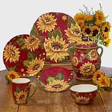 Sunset Sunflower Dinnerware Collection