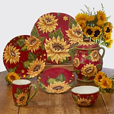 Certified International Sunset Sunflower Dinnerware Collection