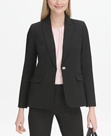 Calvin Klein Petite Dot Jacquard Blazer
