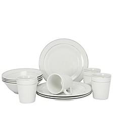 Deluxe 12 Piece Dinnerware Set
