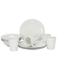 Tuxedo Deluxe 12 Piece Dinnerware Set