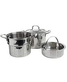 Mangia 8 Qt 4 Piece Pasta Set with Steamer Basket