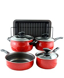 Sunbeam Kelfield 9 Piece Nonstick Cookware Set with Bakelite Handle-Knob