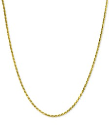 "Rope Chain Adjustable 22"" Necklace, Created for Macy's"