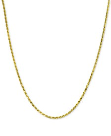 "Giani Bernini Rope Chain Adjustable 22"" Necklace, Created for Macy's"