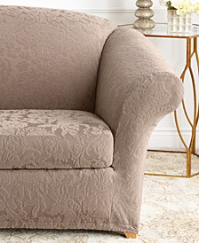 Stretch Jacquard Damask Slipcover Collection