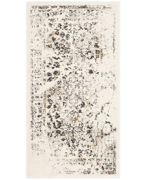 """Safavieh Porcello Ivory and Light Gray 2'7"""" x 5' Area Rug"""