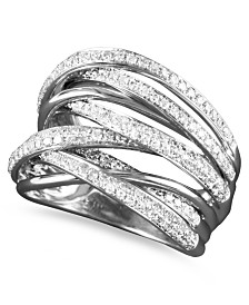 EFFY Diamond Overlap Ring (3/4 ct. t.w.) in 14k White Gold