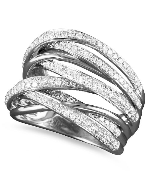 EFFY Collection EFFY® Diamond Overlap Ring (3/4 ct. t.w.) in 14k White Gold