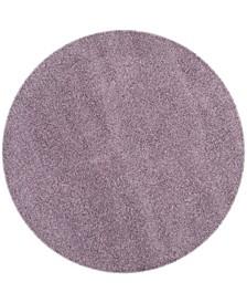 "Laguna Purple 6'7"" x 6'7"" Round Area Rug"