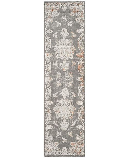 """Safavieh Passion Grey and Ivory 2'2"""" x 8' Runner Area Rug"""