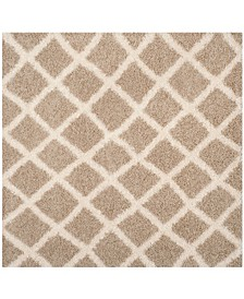 Dallas Beige and Ivory 6' x 6' Square Area Rug