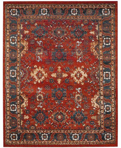 Safavieh Vintage Hamadan Orange and Blue 8' x 10' Area Rug