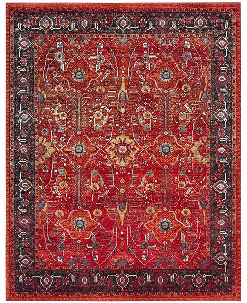 Safavieh Vintage Hamadan Orange and Navy 9' x 12' Area Rug