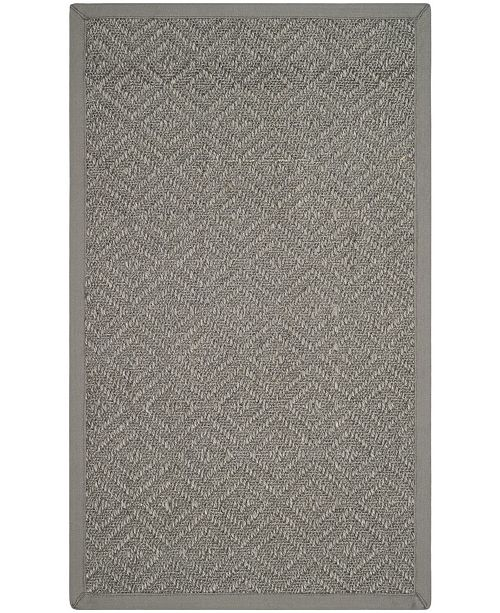 Safavieh Natural Fiber Light Gray and Gray 3' x 5' Sisal Weave Area Rug