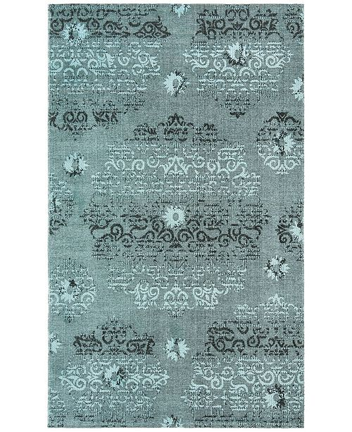 Safavieh Palazzo Light Blue and Black 4' x 6' Area Rug